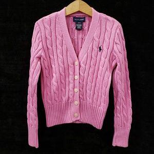 7yrs  Girls Ralph Lauren Polo Pink Cardigan